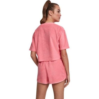 Tricou Urban Classics Short Towel Pink 1