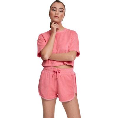 Tricou Urban Classics Short Towel Pink