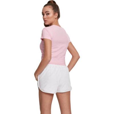 Tricou Urban Classics Stretch Jersey Cropped Barbie Pink 1