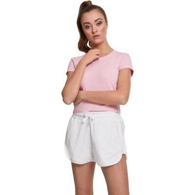 Tricou Urban Classics Stretch Jersey Cropped Barbie Pink