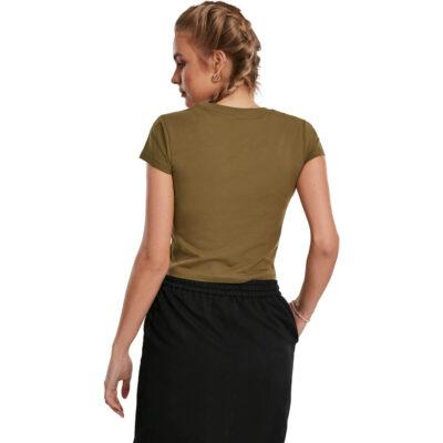 Tricou Urban Classics Stretch Jersey Cropped Summer Olive