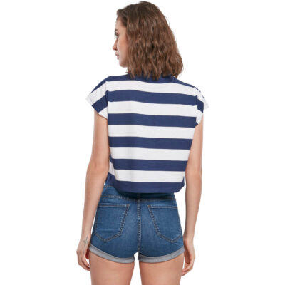 Tricou Urban Classics Stripe Short Blue 1