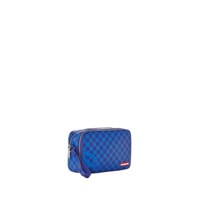 Toiletry Bag Blue Checkered Shark 1