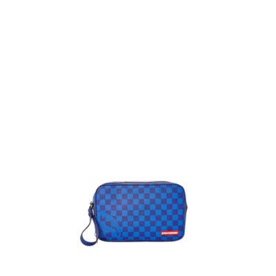Toiletry Bag Blue Checkered Shark