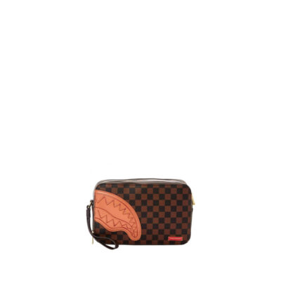 Toiletry Bag Brown Henny Square