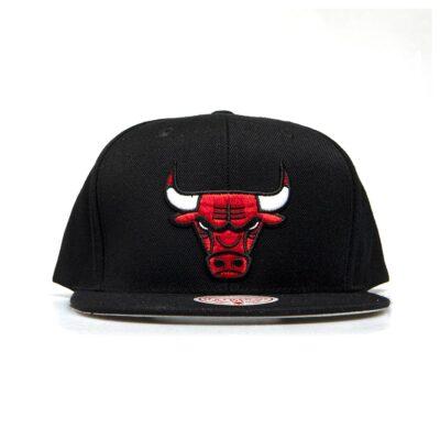 Sapca Mitchell & Ness snapback Chicago Bulls black Wool Solid