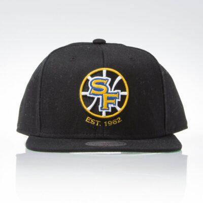 Sapca Mitchell & Ness snapback Golden State Warriors black Wool Solid