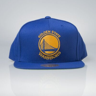 Sapca Mitchell & Ness snapback Golden State Warriors blue Wool Solid