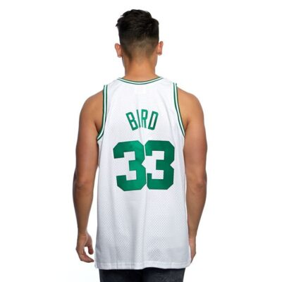 Swingman Jersey Mitchell & Ness Boston Celtics #33 Larry Bird white 1