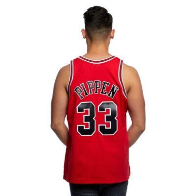 Swingman Jersey Mitchell & Ness Chicago Bulls #33 Scottie Pippen red 1