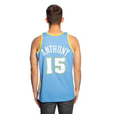 Swingman Jersey Mitchell & Ness Denver Nuggets #15 Carmelo Anthony royal 1