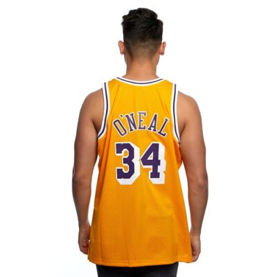 Swingman Jersey Mitchell & Ness Los Angeles Lakers #34 Shaquille O'Neal yellow 1
