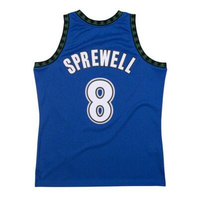 Swingman Jersey Mitchell & Ness Minnesota Timberwolves #8 Latrell Sprewell royal 1