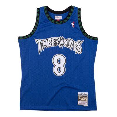 Swingman Jersey Mitchell & Ness Minnesota Timberwolves #8 Latrell Sprewell royal