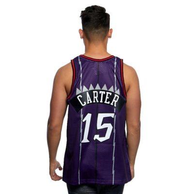 Swingman Jersey Mitchell & Ness Raptors #15 Vince Carter purple 1