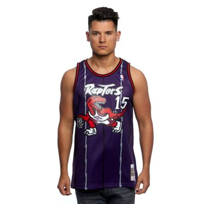 Swingman Jersey Mitchell & Ness Raptors #15 Vince Carter purple