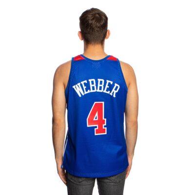 Swingman Jersey Mitchell & Ness Washington Bullets #4 Chris Webber 1