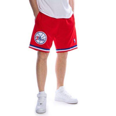 Swingman Shorts Mitchell & Ness Philadelphia 76ers red