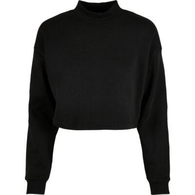 Bluza Urban Classics Cropped Oversized Sweat High Neck Black