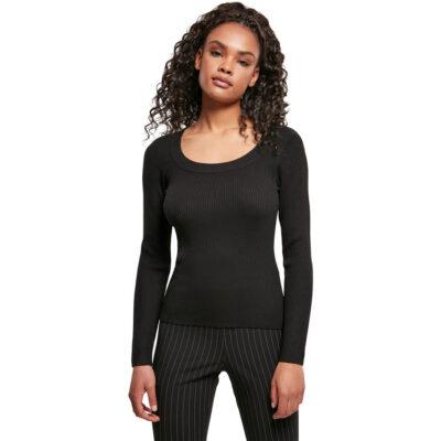 Bluza Urban Classics Wide Neckline Black