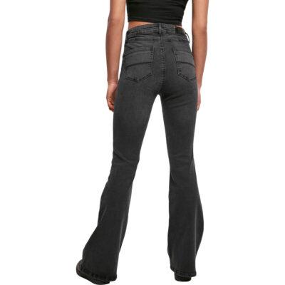 Pantaloni Urban Classics High Waist Flared Denim Black 1