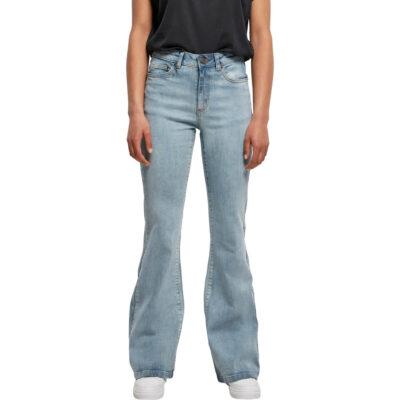 Pantaloni Urban Classics High Waist Flared Denim Blue 3