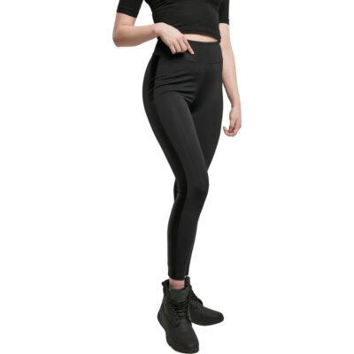 Pantaloni Urban Classics Highwaist Shiny Stripe
