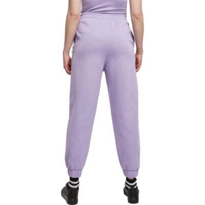 Pantaloni Urban Classics Organic High Waist Ballon Sweat Lavender 1