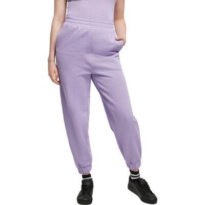 Pantaloni Urban Classics Organic High Waist Ballon Sweat Lavender